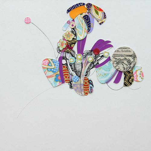 Untitled (Garden), Drawing, Mixed Media, Collage, Pen and Ink on Paper
