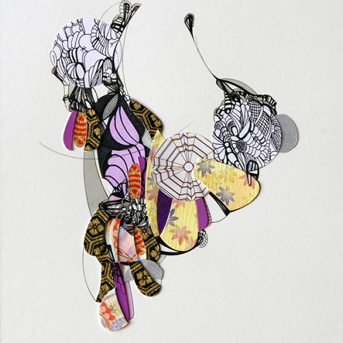 Untitled, Drawing, Collage, Mixed Media, Pen and Ink on Paper