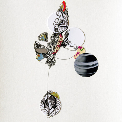 Untitled, Drawing, Mixed Media Construction, Collage, Pen and Ink on Paper